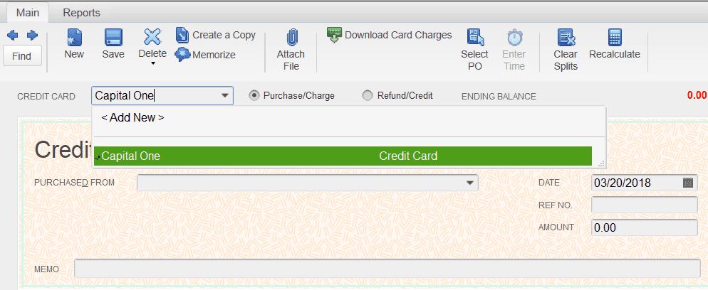 How To Enter Credit Card Charges In QuickBooks Pro