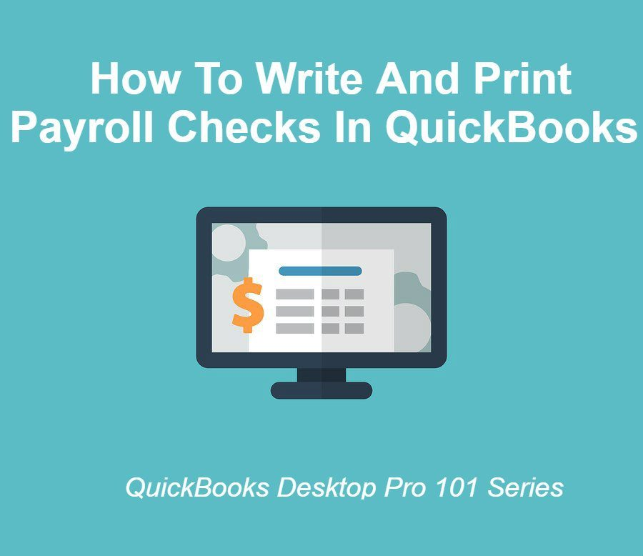 How To Write And Print Checks In QuickBooks