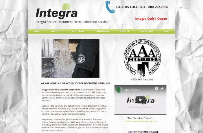 integra website