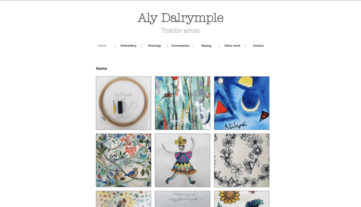 Aly Dalrymple artist website