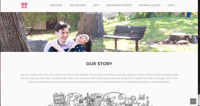 Tyler and Tayler wedding website example