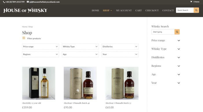 House of Whisky Product Page