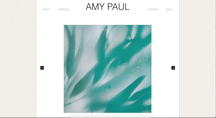 Amy Paul artist website example