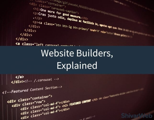 Website Builders Explained