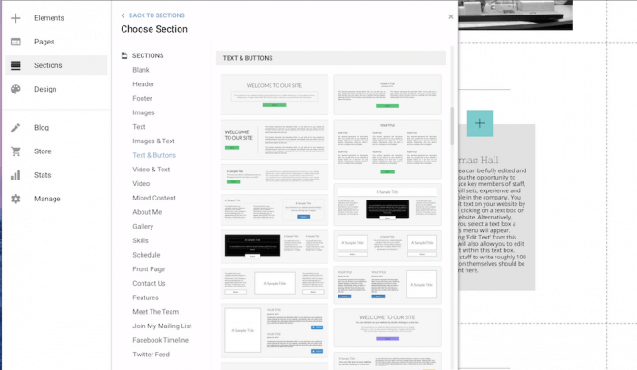 Sections Website Builder Gator