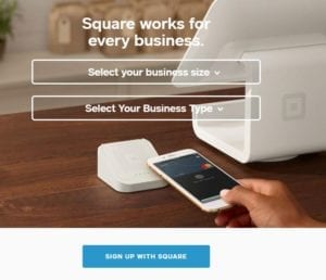Sign up with Square