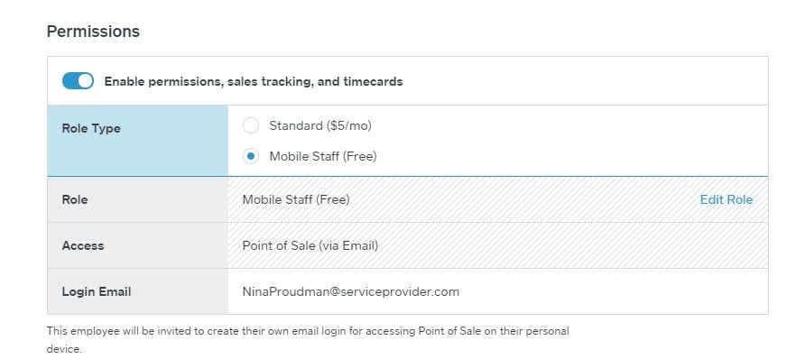 Square Employee Permissions Mobile Staff Free