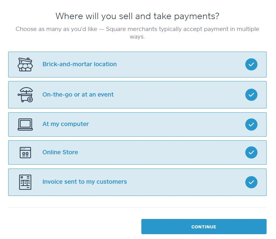 Square processes payments mobile online and square invoices