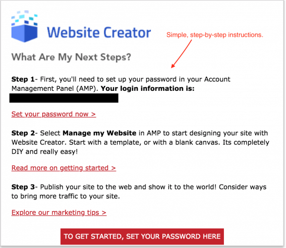 Website Creator Onboarding