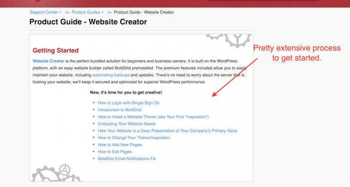 Website Creator Getting Started