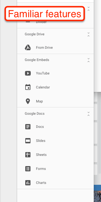 Google Sites Google Features