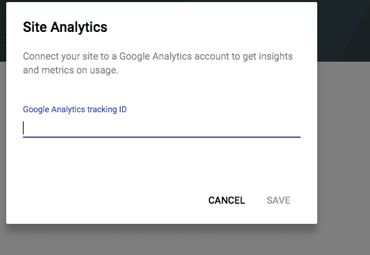 Google Sites Analytics Options